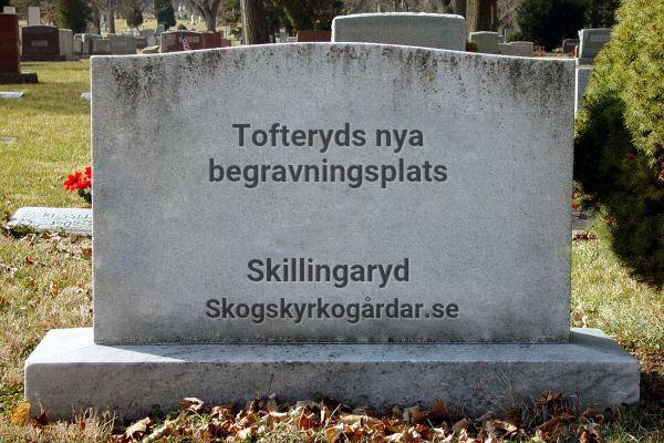 Tofteryds nya begravningsplats