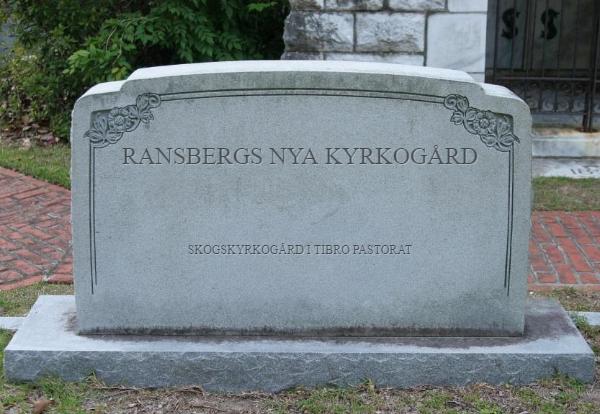 Ransbergs Nya Kyrkogård ~ Skogskyrkogård i Tibro Pastorat